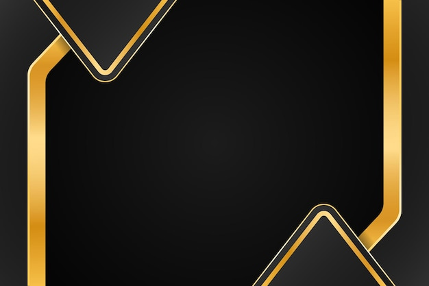 Design di sfondo di lusso dorato con doppio mezzo triangolo