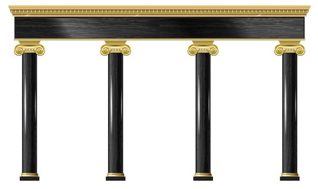 Arco classico di lusso dorato con colonne.