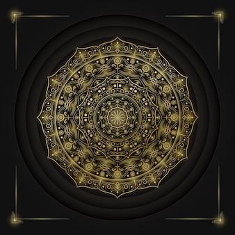Mandala di lusso dorato