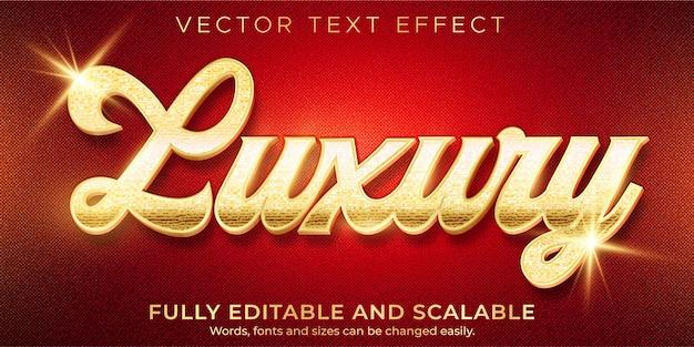 Modello di effetto testo di lusso dorato