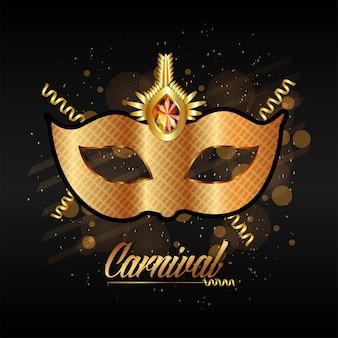 Maschera d'oro per la celebrazione del carnevale