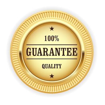 Medaglia d'oro - simbolo di garanzia di qualità al 100%