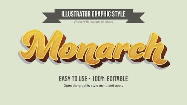Effetto testo calligrafia modificabile 3d moderno dorato