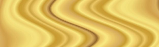 Composizione fluida moderna dorata nella priorità bassa con l'onda