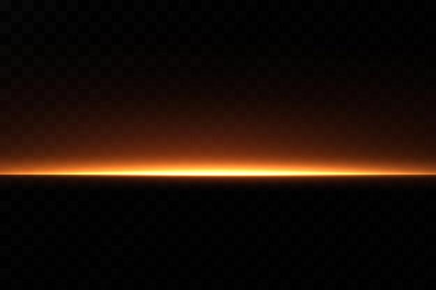 Linea al neon dorata. effetto luce.