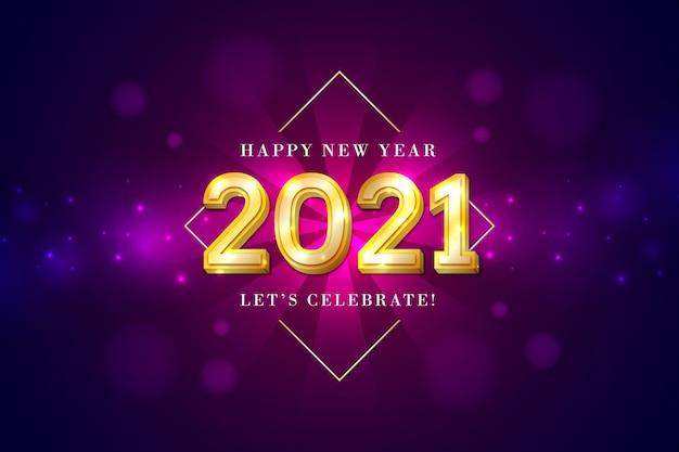 Sfondo dorato di nuovo anno 2021