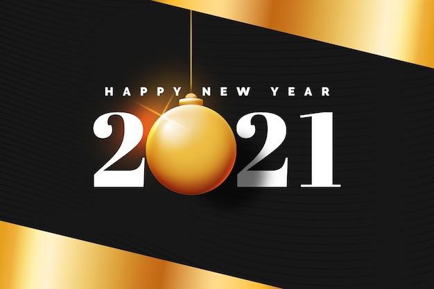 Sfondo dorato nuovo anno 2021