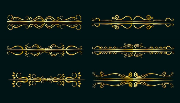 Collezione di ornamenti d'oro premium