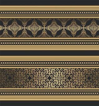 Bordo ornamentale dorato