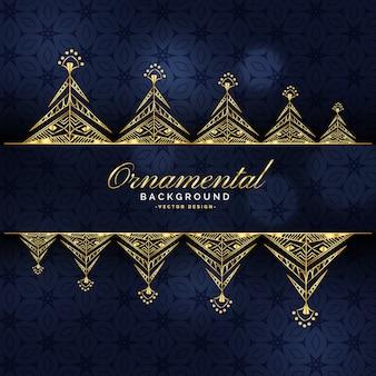 Design di sfondo dorato di lusso ornamentale