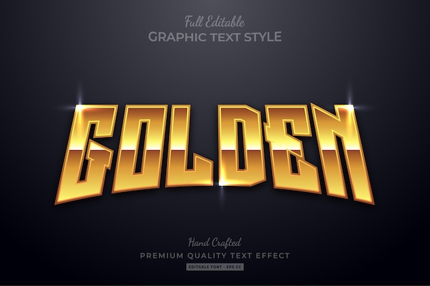 Effetto di stile di testo premium modificabile di lustro dorato