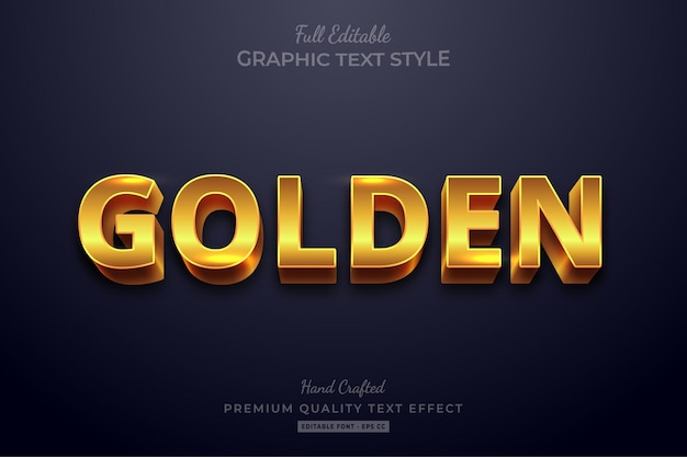 Effetto testo modificabile golden shine