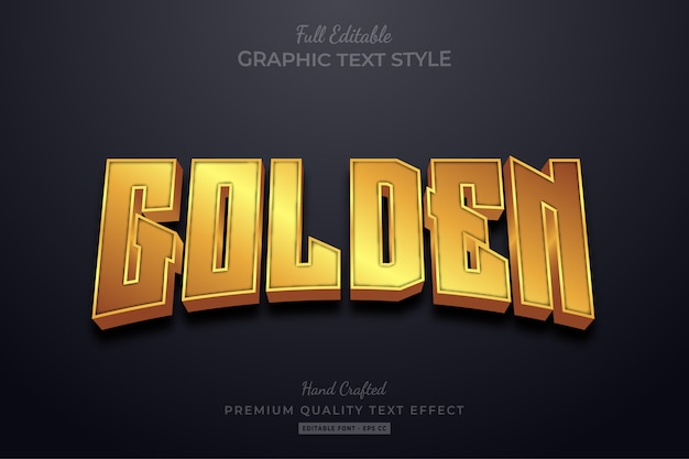 Effetto testo modificabile golden shine
