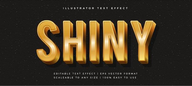 Effetto carattere stile testo lucido dorato