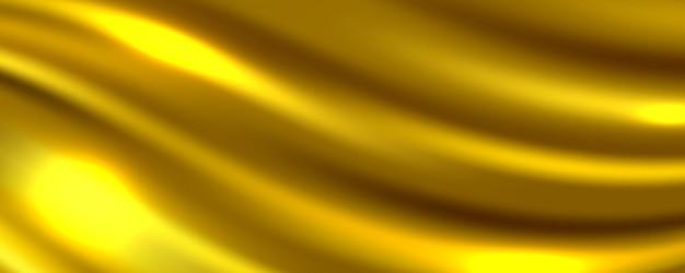 Sfondo astratto tessuto di seta dorata