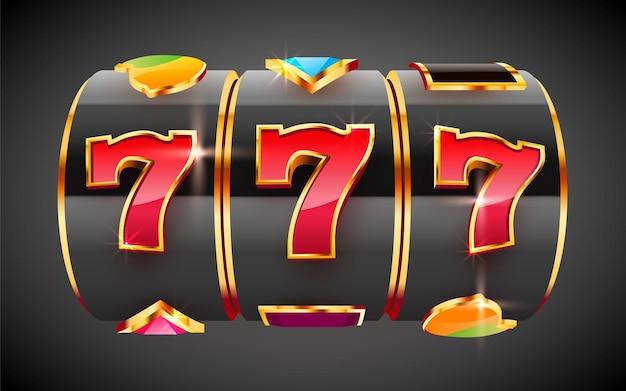 La slot machine dorata vince il jackpot del casinò con il concetto di grande vincita del jackpot