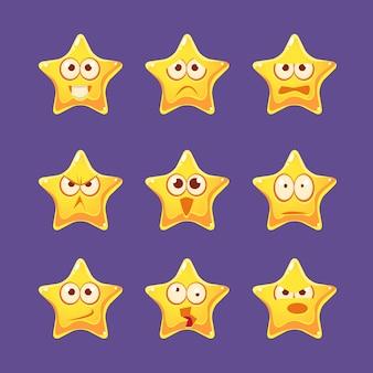 Set di caratteri emoji stella d'oro