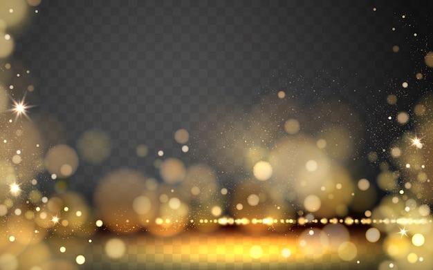 Elementi di stelle dorate per effetti speciali