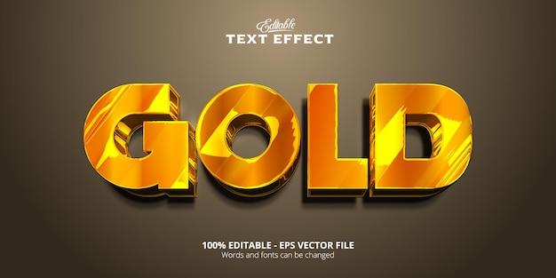 Stile dorato, effetto testo modificabile, testo oro