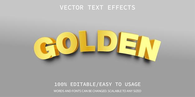 Modello di effetto testo dorato