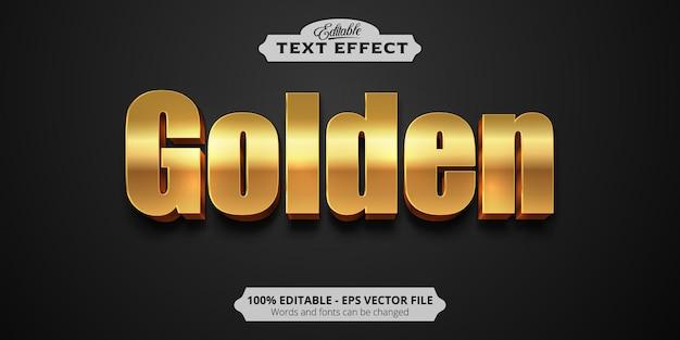 Testo dorato, effetto testo modificabile in stile dorato lucido