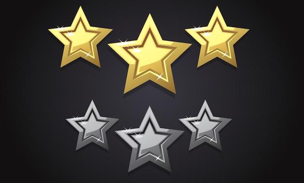 Tre stelle di valutazione d'oro