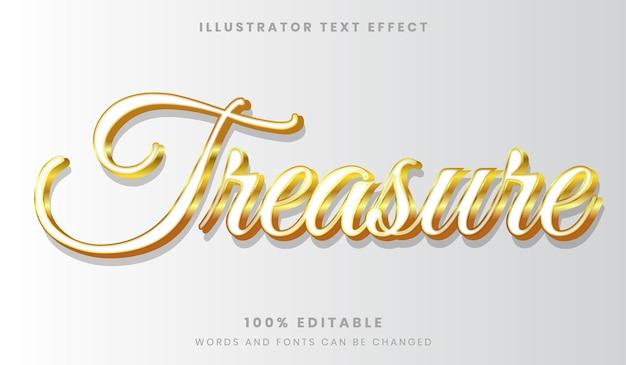 Stile di effetto di testo modificabile di lusso pulito dorato e bianco