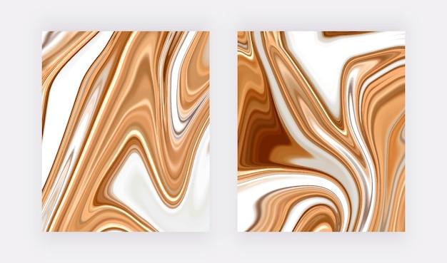 Dorato con texture marmo inchiostro liquido bianco