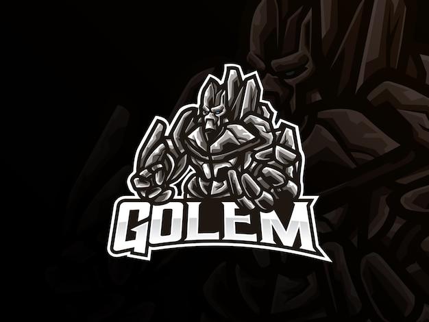 Golem mascotte sport logo design
