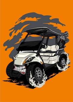 Automobile del mostro del carrello da golf
