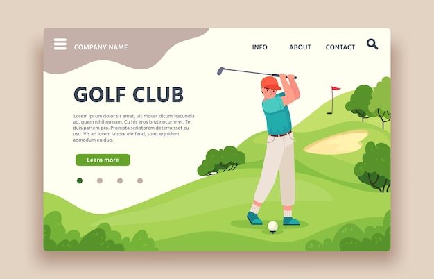 Sito web del golf club