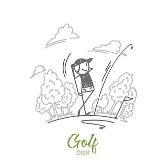 Illustrazione di concetto di golf