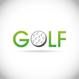 Disegno del golf sopra illustrazione vettoriale sfondo grigio