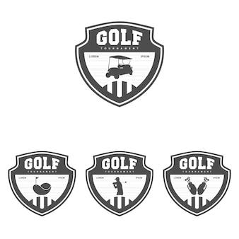 Vettore dell'illustrazione del modello di progettazione di logo di golf