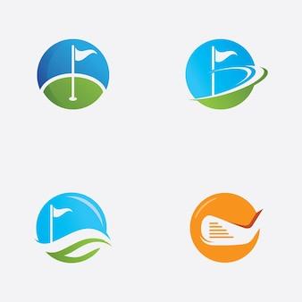 Illustrazione di riserva dell'icona di vettore di logo di golf
