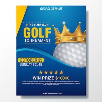 Modello di manifesto del torneo di golf