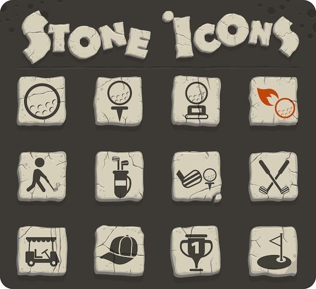 Icone vettoriali di golf per il web e la progettazione dell'interfaccia utente