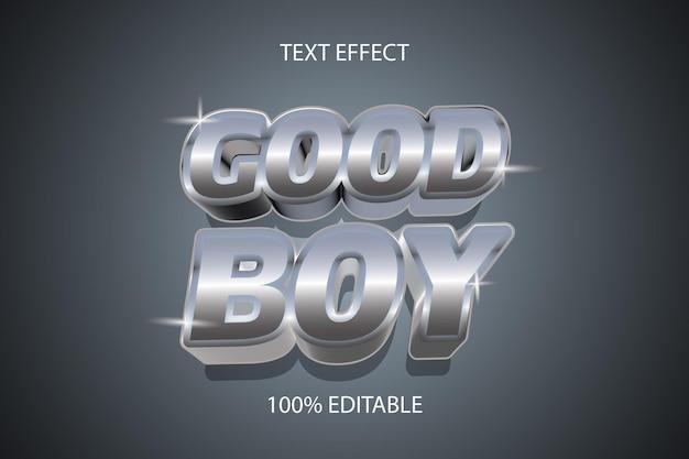 Effetto di testo modificabile cromato in stile bravo ragazzo