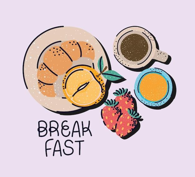 Buon biglietto per la colazione