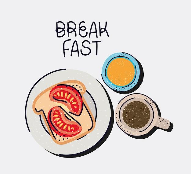 Buon cartello per la colazione