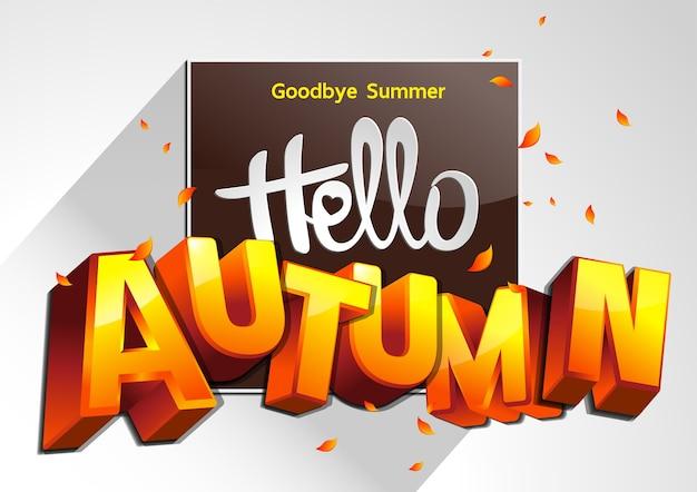 Good bye summer illustrazione