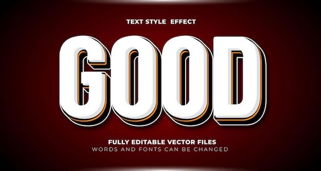 Buon effetto di testo modificabile colorato