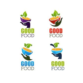 Set di etichette di buon cibo