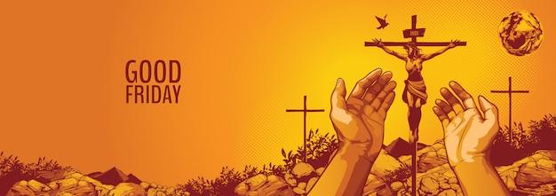 Venerdì santo, gesù cristo crocifissione.
