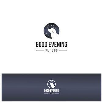 Buona notte cane logo ispirazione design