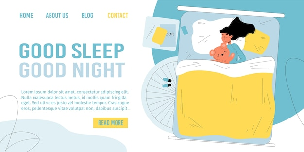 Pagina di destinazione del sonno della buona notte