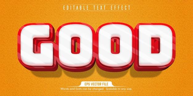 Buon testo, effetto di testo modificabile in stile cartone animato