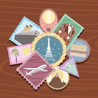 Buoni francobolli di viaggio