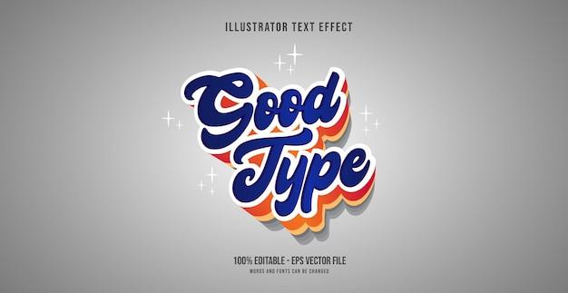 Effetto di testo di buon tipo, stile di testo modificabile
