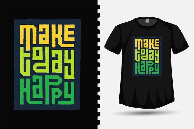 Good vibes solo quadrato verticale tipografia lettering t shirt design template per t-shirt stampata, abbigliamento moda e poster